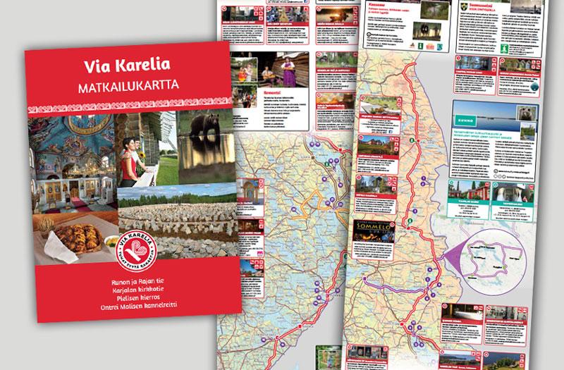 Via Karelia -matkailukartta