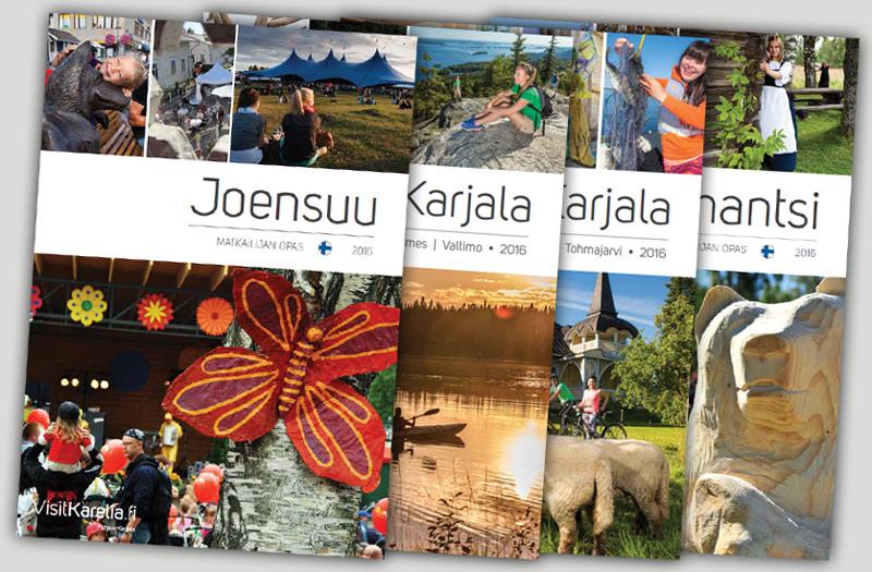Pohjois-Karjalan matkailuesitteitä