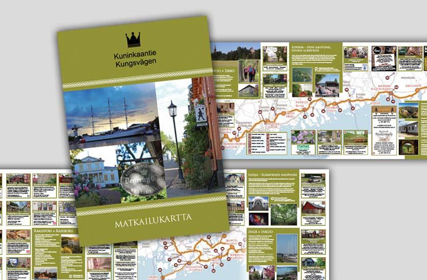 Kuninkaantien matkailukartta